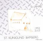 Logoentwurf und Gestaltung des Einbandes der Festschrift, f, St. Kunigund Bamberg 2003