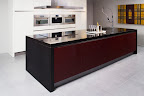 Polished Beach Black kitchen worktop Island & end panels
