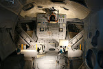 Das Mondlandemodul einer Apollo-Mission von innen