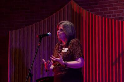 Kimberly P Chastain from Moonachie Presbyterian Church speaking. Photos by TOM HART/  TomHartPhoto.com.
