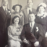 PHYLLIS [bottom row, left], laughing with the most abandon of anyone at her wedding.