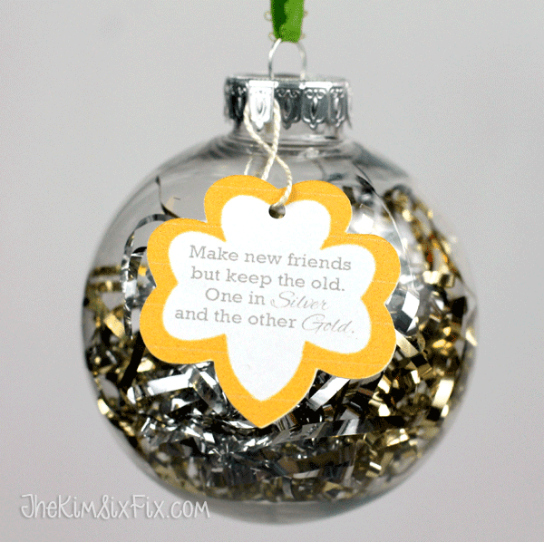 Make new Friends Girl Scout ornament