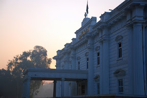 A view of Quide-e-Azam Library Lahore early morning.