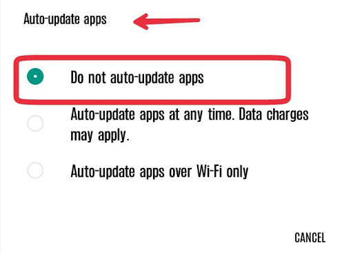 Google Play Store Auto Update
