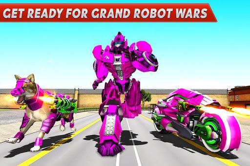Dog Robot Transform Moto Robot Transformation Game filehippodl screenshot 3