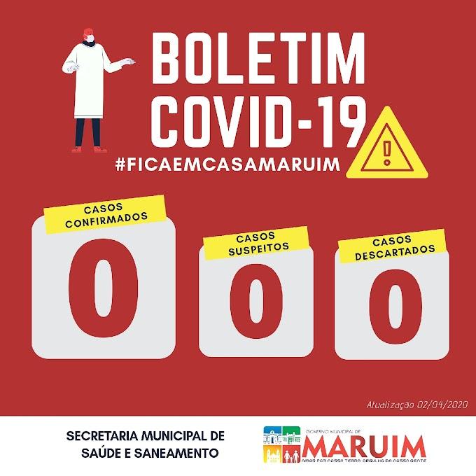 Prefeitura de Maruim divulga boletim sobre coronavírus