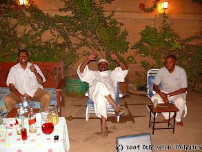 Photo: Večeře u Tahy (zleva) s Abdelsalamem a Mohamedem / Dinner at Taha's place with Abdelsalam and Mohamed