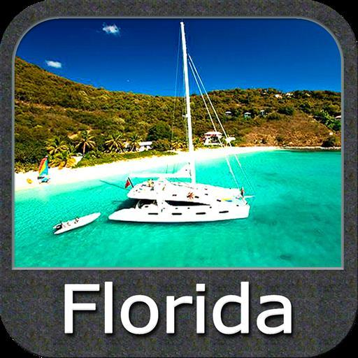 Marine Florida chart gps track