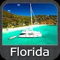 Marine Florida chart gps track icon