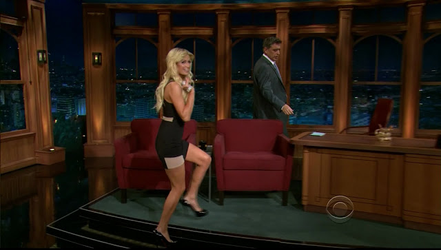 Paris Hilton At Craig Ferguson Show