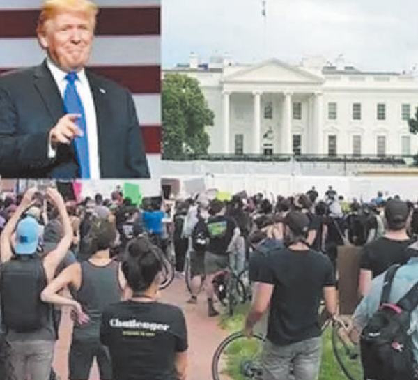 Curfew near White House, Trump had to take refuge in a bunker