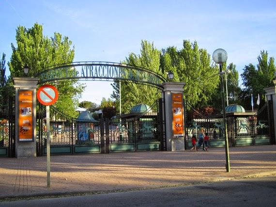 Parque de Atracciones y bicicletas