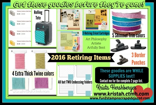 2016 Retiring items - MY INFO PicMonkey Collage