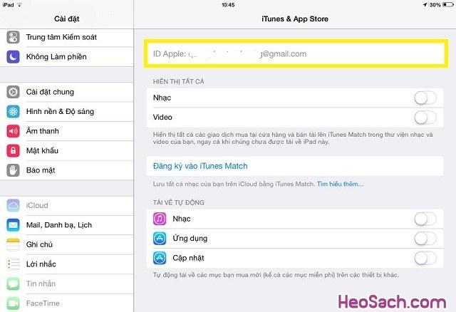 Hình 5 - Cách khóa tính năng thay đổi tài khoản iCloud cho iPhone, iPad