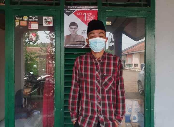 Tata Suharta Calaon Kepala Desa Malangnengah Nomor urut 01 Menyampaikan Visi Dan Misi.
