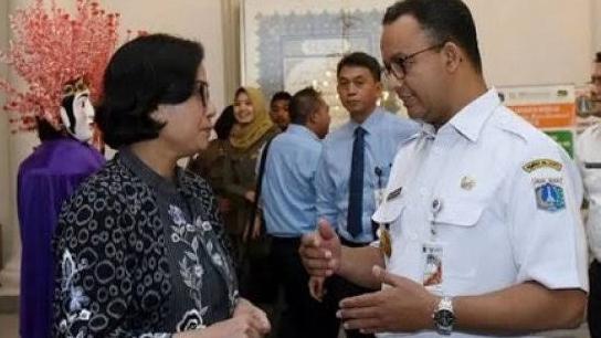 Anies Baswedan Bisiki Sri Mulyani, Minta Fasilitas Seperti Ridwan Kamil.