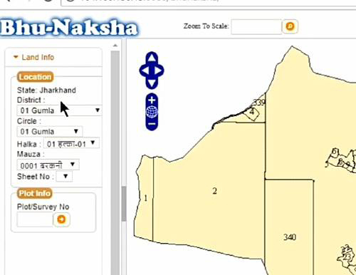 Bhu Naksha, Map Jharkhand