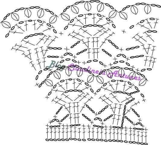 Vestido Infantil em Crochet grafico corpinho
