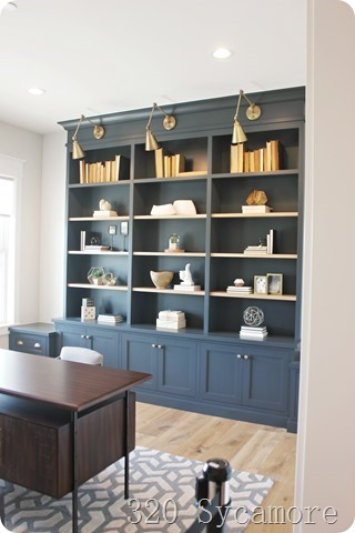blue office built ins