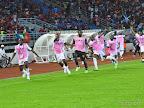 Les Léopards de la RDC célébrant leur victoire face au Congo-Brazzaville en quarts de finale de la Can 2015 (4-2) le 31 janvier 2015. Photo Héritier Yindula