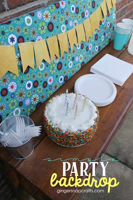 Simple Party Backdrop #gingersnapcrafts #makeitfuncrafts   #sponsored_thumb