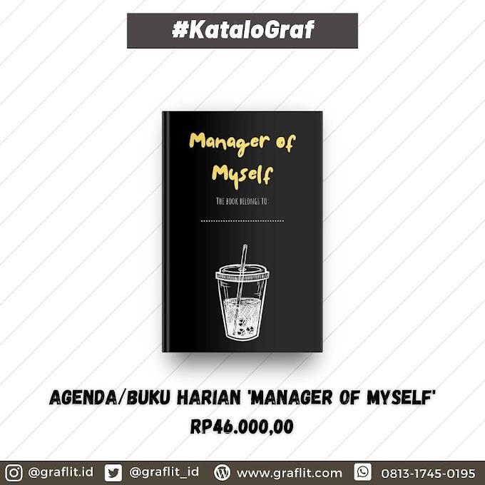 """Buku Harian/Agenda/Organizer """"Manager of Myself"""""""