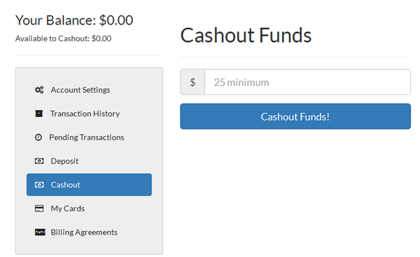 Cashout Funds with PublicityClerks