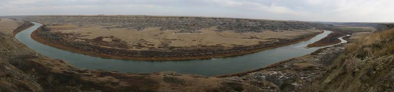 Red Deer River panorama