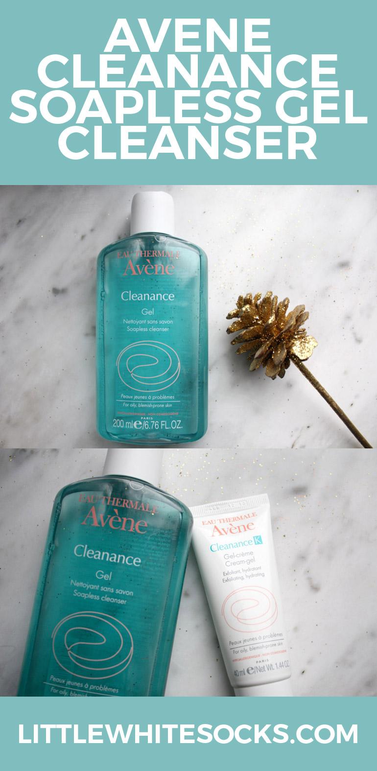 avene cleanance soapless gel cleanser and exfoliating hydrating cream-gel