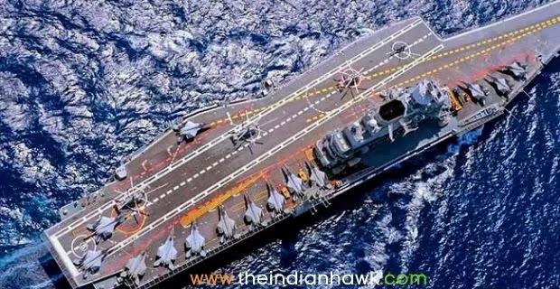 INS Vikramaditya Top View