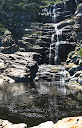 Here's an INCREDIBLE waterfall only about 3 km in on the first day. There's only about 30m or so of rocks separating this awesome waterfall pool from the ocean. We had a great long swim there.