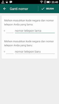 cara yang mudah ganti no hp wa whatsapp di android