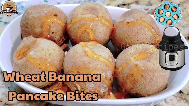 Banana Wheat Pancake Bites