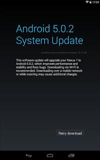 Can't download system update - Nexus Help