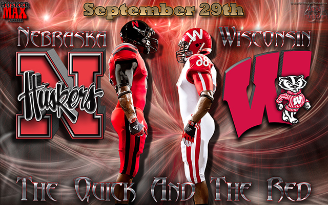 Nebraska Vs Wisconsin The Quick And The Red Wallpaper