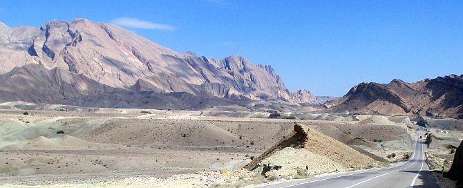 Felsformationen bei Hormood Abassi, Lar - Bandar Abbas - Road, Iran