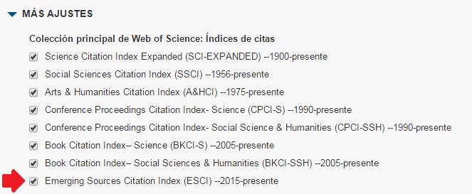 Seleccio Emerging Sources Citation Index