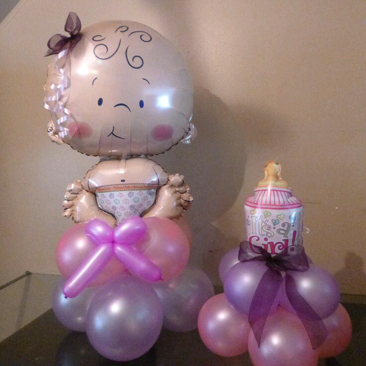Bellas decoraciones con globos para baby shower - Decoracion con bombas para baby shower ...