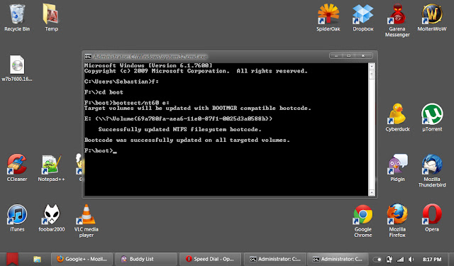 Make UFD bootable using 'bootsect' utility