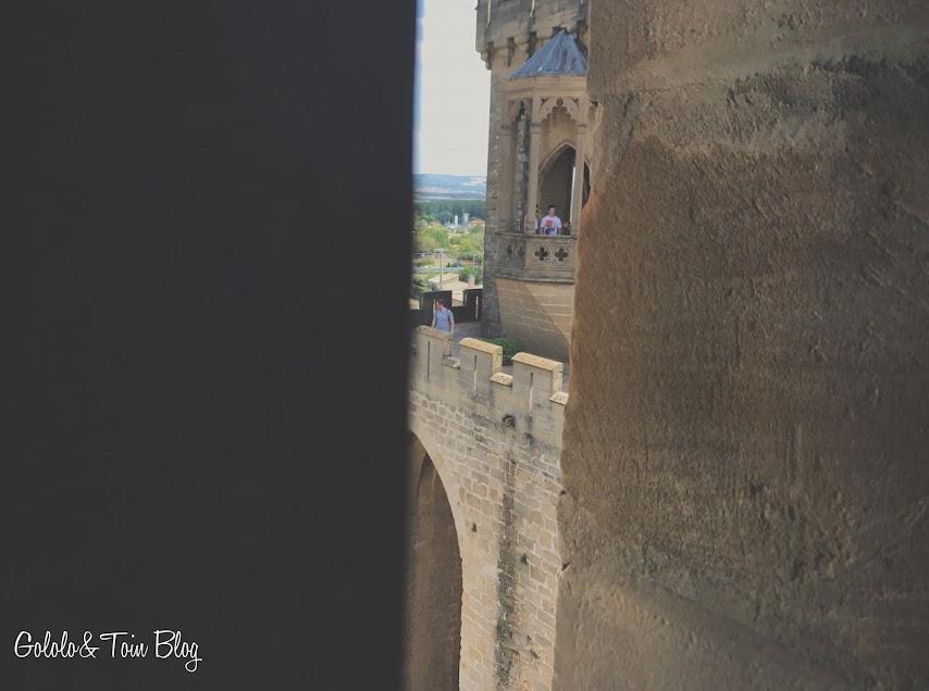 Vistas desde las torres del Palacio Real de Olite