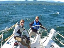 J/95 sailors- sailing on Lake Champlain, Vermont