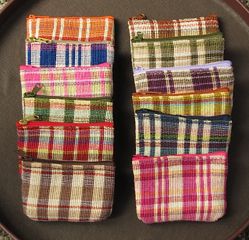 handwoven coin purses from Bicol