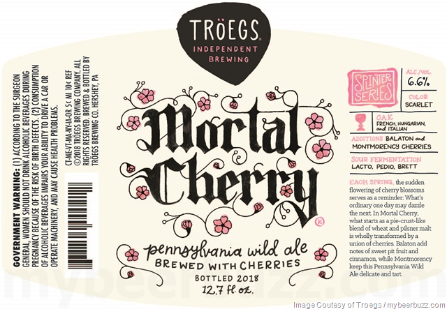 Troegs Mortal Cherry Coming To Splinter Series