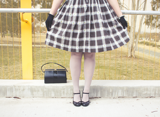 Black, brown and plaid all over | Lavender & Twill