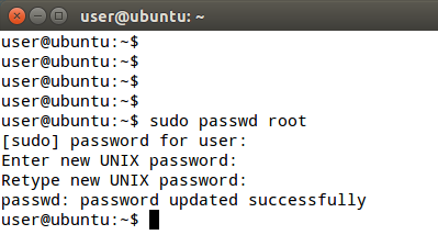 Create Root User Ubuntu