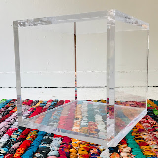 Lucite Cube Accent Table