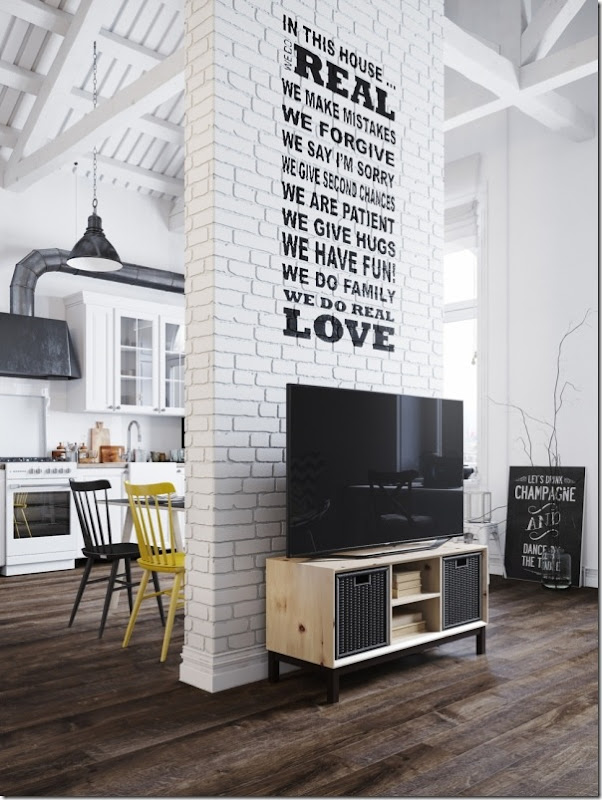 case e inetrni - mini loft praga - stile scandinavo (13)