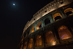 Colosseum and Moon - Rome
