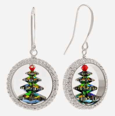 Captured Christmas Tree Earrings by Beadaholique