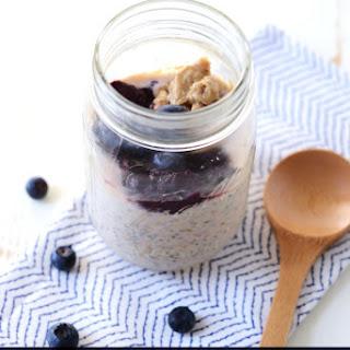 Peanut Butter and Chia Jam Overnight Oats Recipe